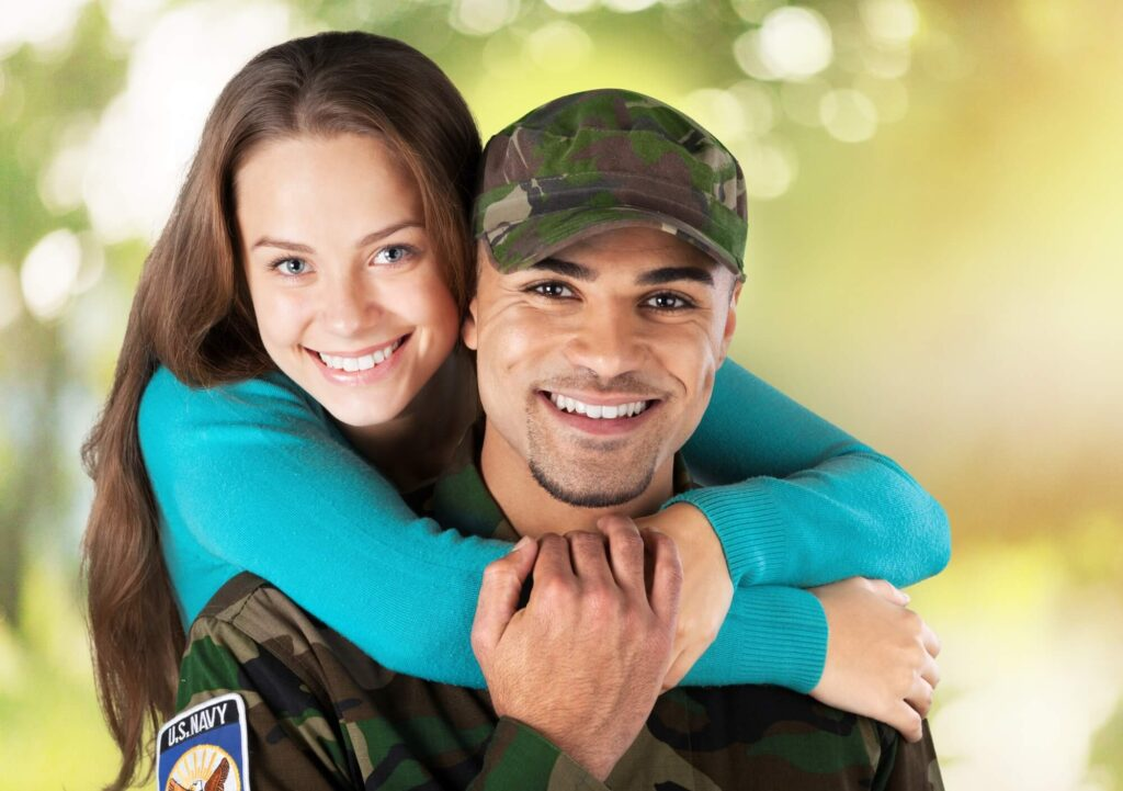 girl in love with the military